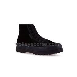 Superga Alpina Velvet Total Black 2341 Sneaker Donna