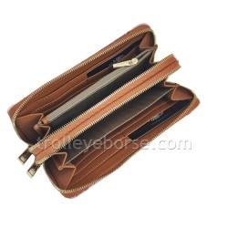Roncato Fenix Portafoglio Pelle Donna RFID zip Rosso Ciliegia 411980 roundzip