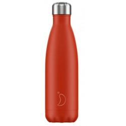 Chilly's Bottle Neon Edition Red 500ml Borraccia Termica Acciaio