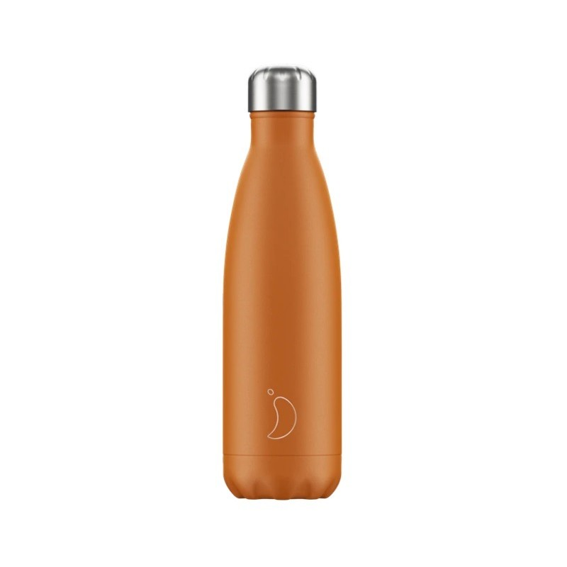 Chilly's Bottle Burnt Orange Arancione Opaco 500ml Borraccia Termica Acciaio