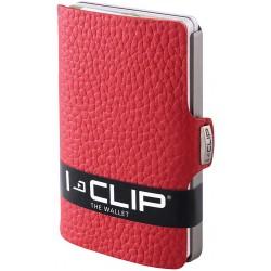 IClip Classico Smart Wallet Mini Portafoglio Unisex Rosso Vera Pelle