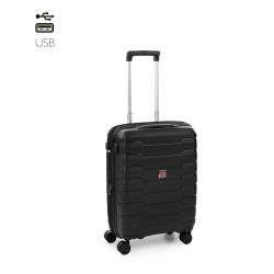 Roncato Trolley Cabina Rigido Nero Espandibile Skyline 418153 TSA presa USB