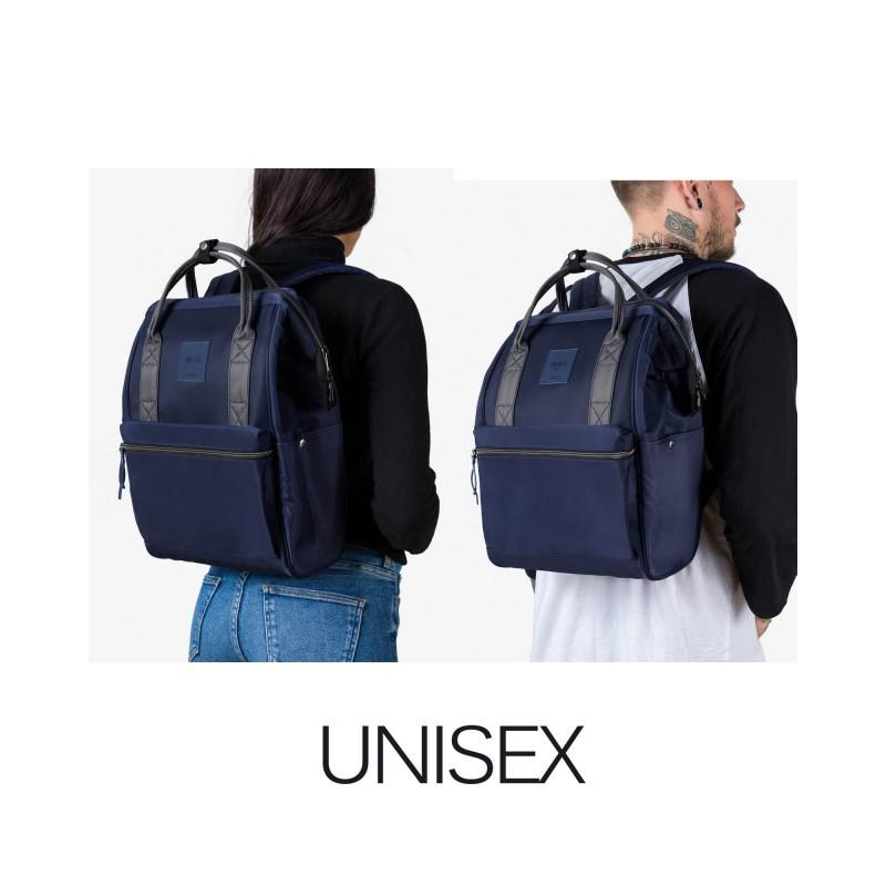 "Rains Zaino Backpack Blue 13"" Laptop Articolo 1220"