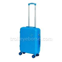 Ravizzoni Trolley Cabina Rigido Rainbow Blu 56255 TSA 4 Ruote